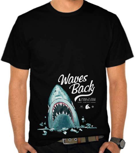Kaos Distro Hiu 3 Dimensi jual kaos ikan hiu binatang satubaju