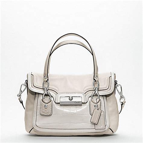 Cristie 6290 Leather Original Grey Silver coach f18282 kristin spectator leather flap satchel silver parchment coach handbags
