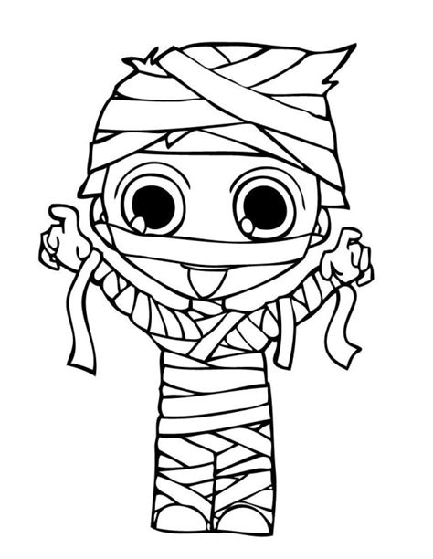 mummy costume halloween coloring pages halloween
