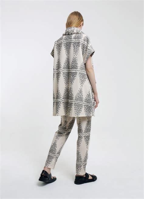 White Gray Gili Timur Outerwear buy original oemah etnik white gray monteal timur