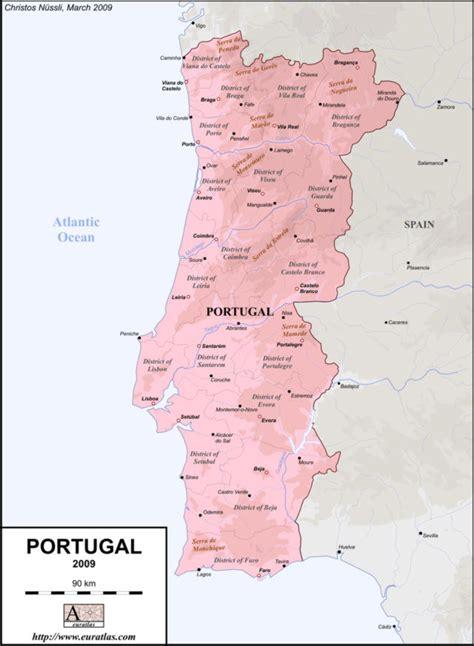 printable portugal road map euratlas info member s area portugal en lab col