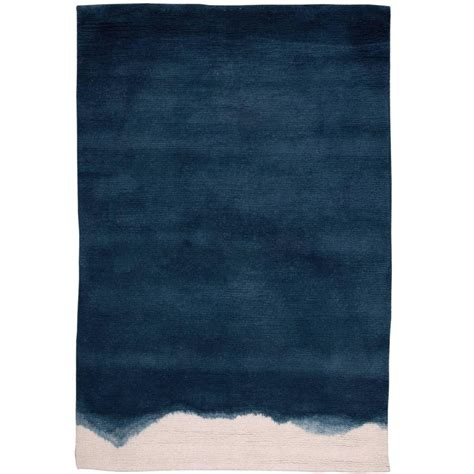 dying a rug ombre dip dyed indigo wool small rug for sale at 1stdibs
