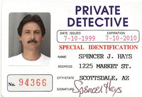 detective identification card template for detective id card