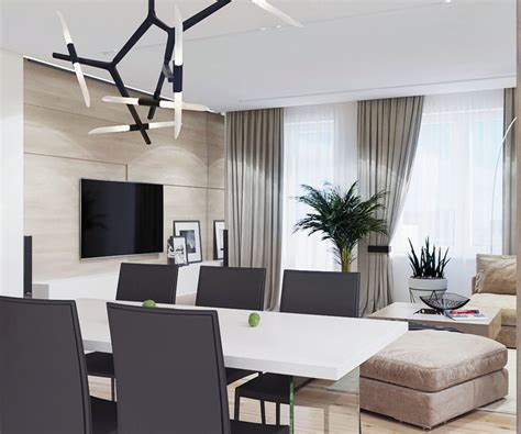 relaxing contemporary style family apartment  beige