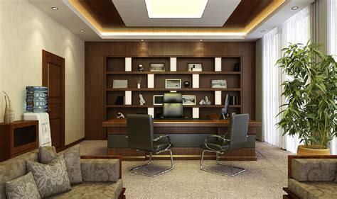 Modern Mediterranean Interior Design by Manager S Office Suspended Ceiling And Closet Design