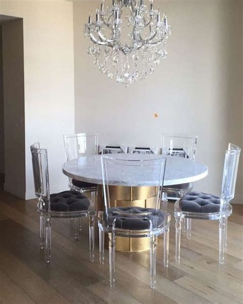 acrylic dining room set acrylic contemporary dining room 33 lucite and acrylic furniture ideas for modern spaces
