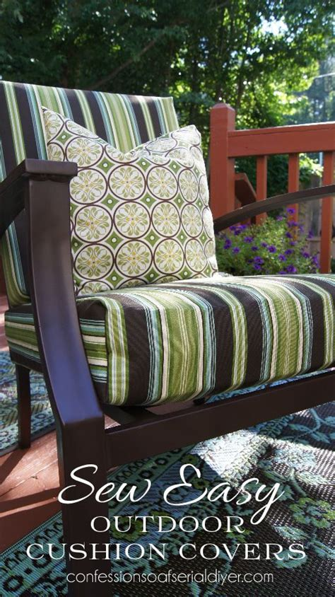 sew easy outdoor cushion cover tutorial bloggers