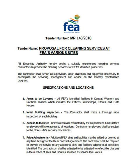 proposal format cleaning services 3 cleaning proposal templates free sle exle