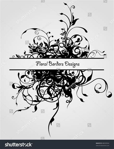 grunge page with floral border stock illustration illustration of fashioned aged 2582659 grunge fashion flowers vintage floral vector border design 88039594