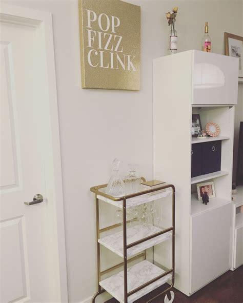sunnersta ikea gold bar cart made from ikea sunnersta apartment decor