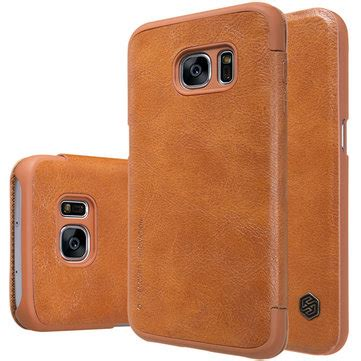 Nillkin Qin Leather Flip Cover Kulit Samsung Galaxy A7 A710 2016 nillkin qin series classic flip pu leather for samsung galaxy s7 sale banggood sold out