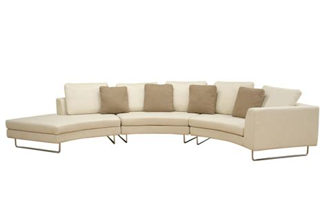 rounded couch large round curved sofa sectional baxton studio lilia