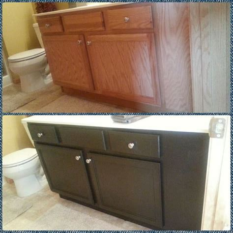 spare bathroom vanity in behr espresso beans paint diy crafts