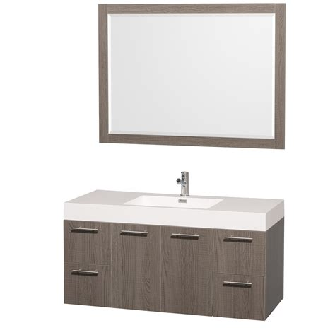 amare bathroom vanity amare vanity 48 inch set grey oak with acrylic resin top