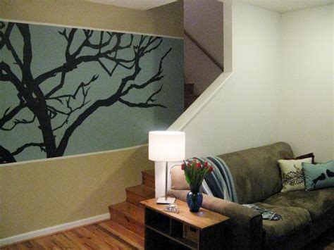 rayco painting newsletter accent wall other ideas 100 half day designs treetop wall mural hgtv