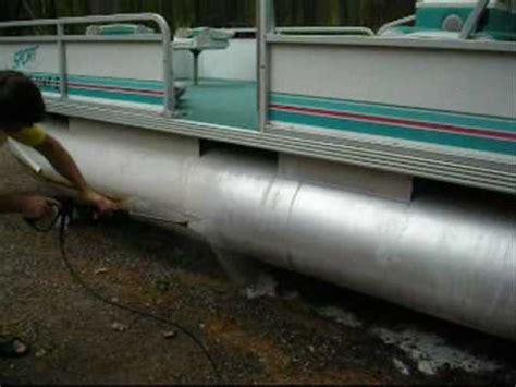 houseboat pontoon tubes pontoon tube cleaning experiment youtube