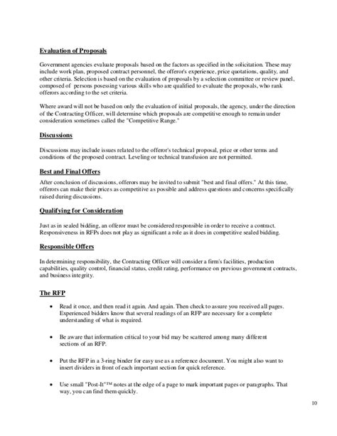 Government Contract Proposal Template One Piece Government Contract Bid Template