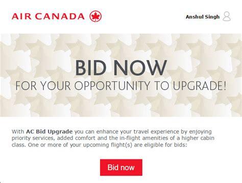 bid on flights how to bid for upgrade on air canada air canada bid