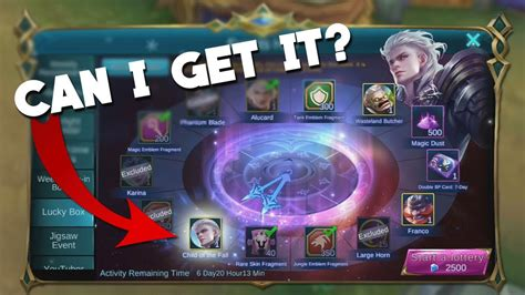mobile legends lucky box event child   fall youtube