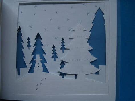 Winter Paper Craft - tiny winter paper house book pic heavy paper crafts