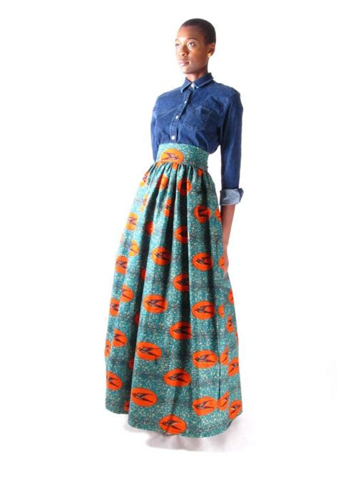 a full length printed skirt gets a touch of luxe via a fly this listing is for a full length maxi skirt made with