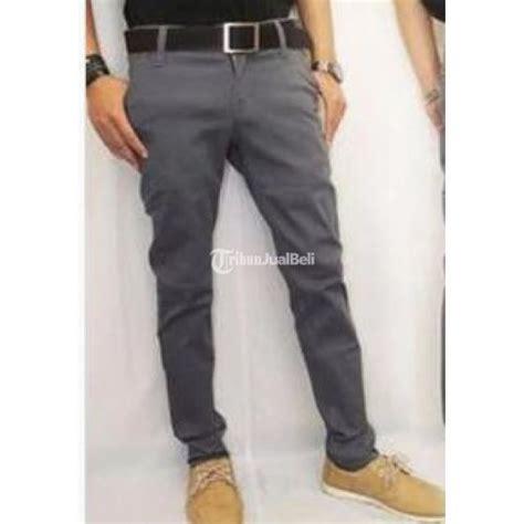 New Celana Panjang Chino Pria Oke celana panjang chino pria size 27 32 warna abu abu new bahan katun elastis jawa barat