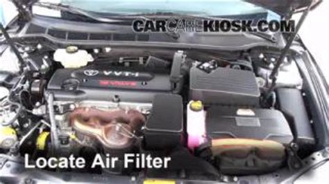 2007 Toyota Camry Air Conditioning Problems 2007 2011 Toyota Camry Engine Air Filter Check 2009