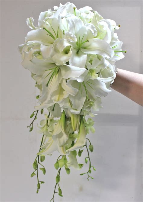 a bouquet of brides collection for seven bachelors this bouquet of brides means a happily after books cascading style white wedding bouquets weddings