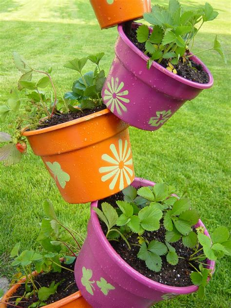 Topsy Turvy Strawberry Planter by Diy Gardening How To Make Tipsy Pots With Their