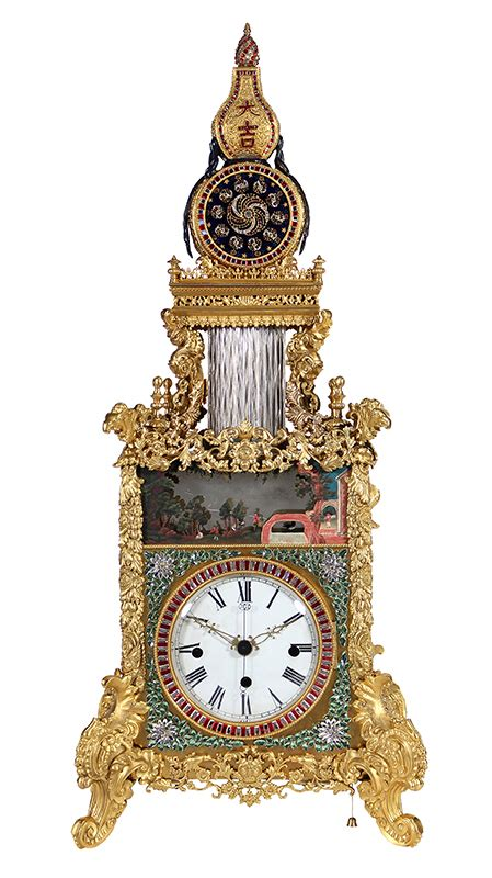 chinese triple fusee and gilt bronze bracket clock with very rare chinese automaton triple fusee bracket clock