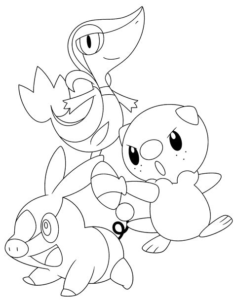 pokemon coloring pages of snivy coloring pages pokemon oshawott snivy and tepig google