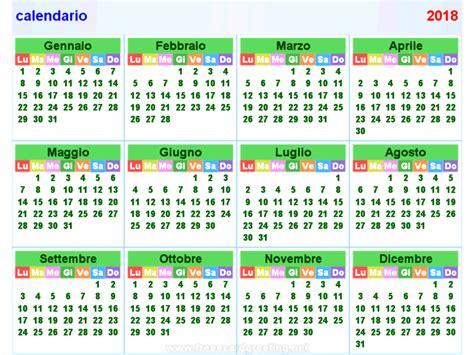 Calendario In Calendario 2018 Orizzontale E Verticale