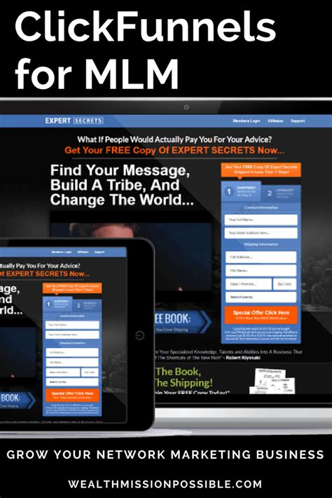 Clickfunnels For Mlm How To Grow Your Business Network Marketing Templates