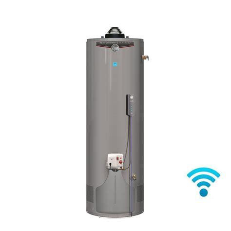 energy water heater rheem performance platinum 40 gal 12 year 36 000 btu energy ultra low nox gas