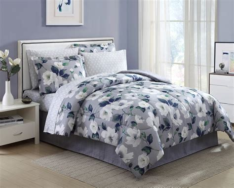 kmart twin comforter sets essential home 8 piece complete bed set blooming floral