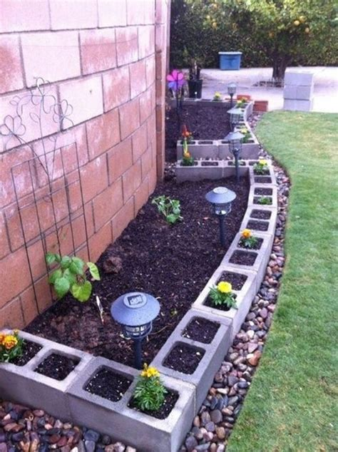 cinder block flower bed how to use cement blocks in practical outdoor projects