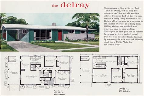Mid Century Modern House Plans Mid Century Modern Ranch 1960 S Home Plans