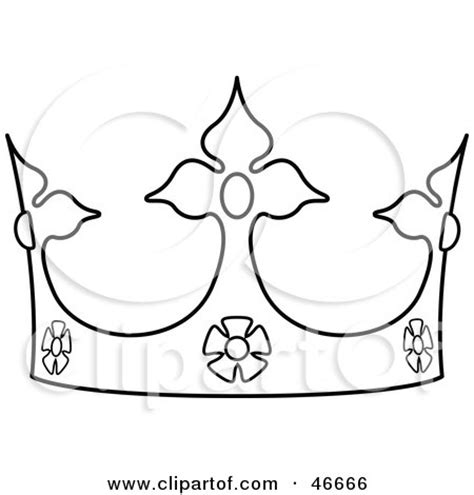black and white crown outline
