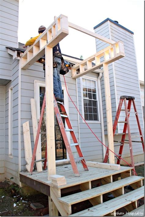 how to build a front door building a front portico southern hospitality