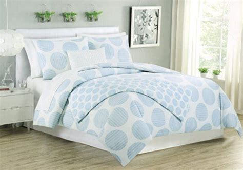 Blue And White Bed Covers Max Studio 3pc King Duvet Cover Set Large Polka Dot Sky