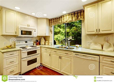 simple interior design for kitchen simple kitchen interior in old house stock photo image