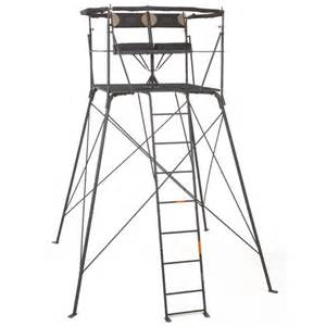 Shooting Blinds Game Winner 174 2 Person Quad Rotating Treestand Academy