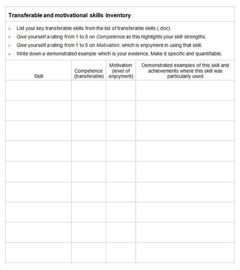 Skills Inventory Worksheet by Skills Inventory Worksheet Lesupercoin Printables Worksheets