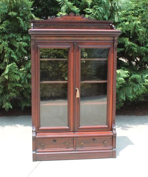 Eastlake Bookcase Petite Eastlake Victorian Walnut Stepback Bookcase W