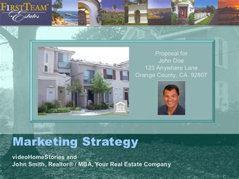 sle real estate agent listing presentation