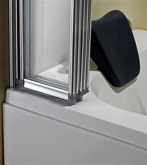 5 Fold 1200 X 5 fold 1200 x 1400mm folding shower glass bath screen