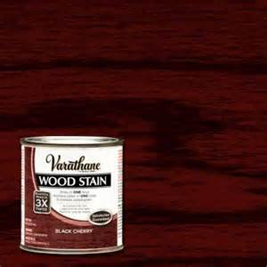 Home Depot Interior Paint Colors Varathane 1 2 Pt Black Cherry Wood Stain 266197 The