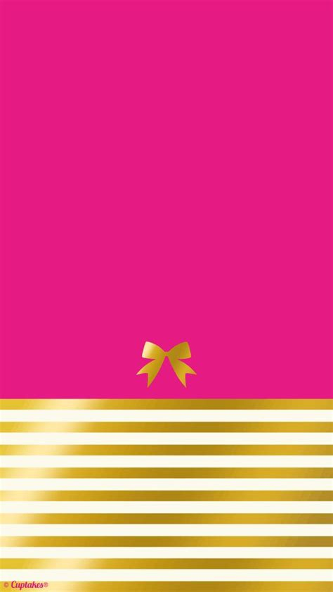 wallpaper gold pink hot pink gold stripe bow iphone wallpaper background
