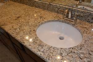 Undermount Bathroom Sinks For Granite Countertops A Up Of The Granite Countertop And Undermount Sinks