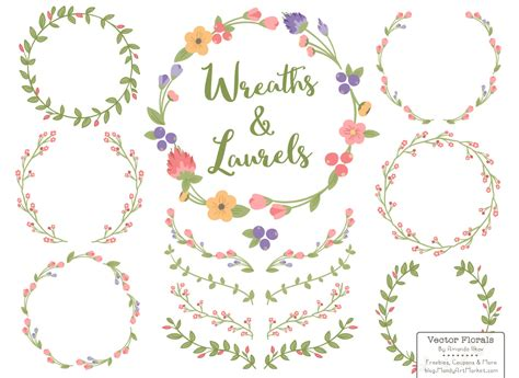 theme line vintage flower free free vector wreaths printing pinterest floral wreath